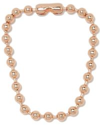 MM6 by Maison Martin Margiela - Brass Necklace Women's Necklace In Gold - Lyst