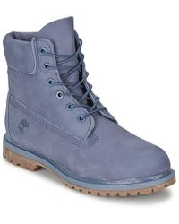 """Timberland - Earthkeepers® 6"""" Premium Boot Women's Mid Boots In Grey - Lyst"""