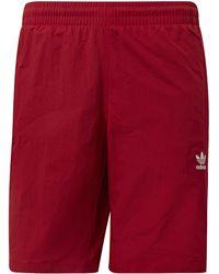 adidas - Short de bain 3-Stripes hommes Maillots de bain en rouge - Lyst