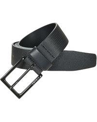 Esprit - Micro Embossed Belt Men's Belt In Black - Lyst