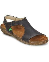 El Naturalista - Torcal Ro Women's Sandals In Black - Lyst