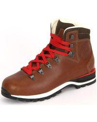 Lowa - Wendelstein Braun Glattleder Men's Mid Boots In Multicolour - Lyst