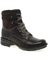 Josef Seibel - Sandra 14 Womens Lace Up Boots Women's Mid Boots In Red - Lyst