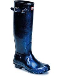 HUNTER - Womens Original Starcloud Tall Women's Wellington Boots In Blue - Lyst