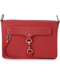Rebecca Minkoff - Borsa A Tracolla M.a.b. In Pelle Rossa Women's Shoulder Bag In Red - Lyst