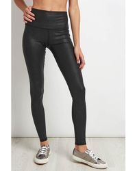 Alo Yoga - High-waist Airbrush Legging Blk/perf Leather - Xs Black Women's Tights In Black - Lyst