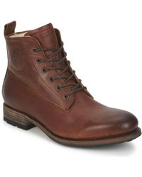 Blackstone - Mid Lace Up Boot Fur Men's Mid Boots In Brown - Lyst