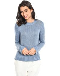 Baukjen - Pullover Vivien Textured Sky Blue Women's Jumper In Blue - Lyst