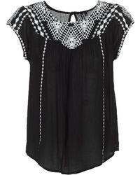 Rip Curl - Talow Beach Shirt Women's Blouse In Black - Lyst