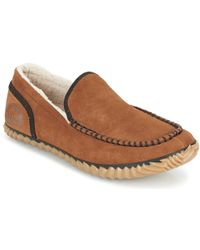 Sorel - Dude Moc Men's Slippers In Brown - Lyst