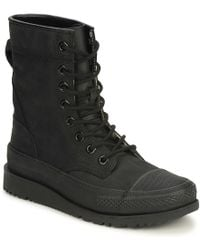 Converse - All Star Major Mills Men's Mid Boots In Black - Lyst