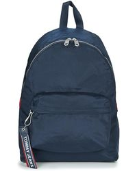 ab57ac2f4de Tommy Hilfiger - Tju Logo Tape Bac... Men's Backpack In Blue - Lyst