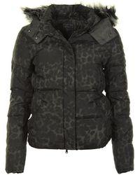 Guess - Amanda Animal Down Jacket Women's Jacket In Black - Lyst