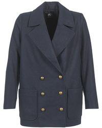Le Temps Des Cerises - Philo Women's Coat In Blue - Lyst