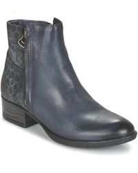 Dream in Green - Laistina Women's Mid Boots In Blue - Lyst