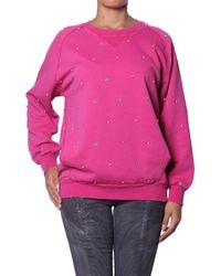 Balmain - Sweatshirt avec Strass pour Femme femmes Sweat-shirt en rose
