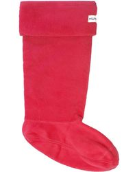 HUNTER - Red Welly Socks Men's Stockings In Red - Lyst