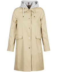 Tommy Hilfiger - Hercules-cotton-jkt Women's Trench Coat In Beige - Lyst