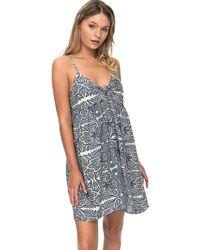 Roxy - Vestido Erjx603105-wbt4 Azul Women's Dress In Blue - Lyst