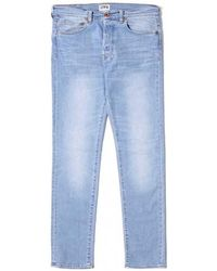 Edwin - Ed-80 Slim Tapered Light Trip Used Women's Jeans In Pink - Lyst