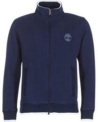 Timberland - Westfield River Neck Zip Men's Sweatshirt In Blue - Lyst