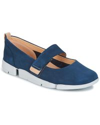 db7e1764606 Clarks - Tri Carrie Women s Shoes (pumps   Ballerinas) In Blue - Lyst