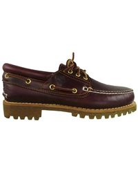 Timberland - Authentics 3-eye Classic Lug Men's Boat Shoes In Purple - Lyst