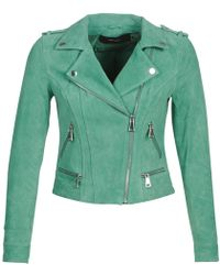 Vero Moda - Vmroyce Women's Leather Jacket In Green - Lyst
