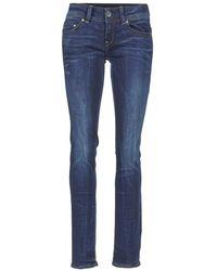 G-Star RAW - MIDGE SADDLE MID STRAIGHT femmes Jeans en bleu - Lyst