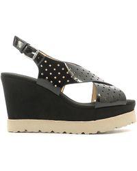 Luca Stefani - 351506 Wedge Sandals Women Black Women's Sandals In Black - Lyst