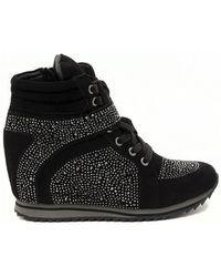 Albano - Trainers Brillantini Nero Women's Shoes (high-top Trainers) In Multicolour - Lyst