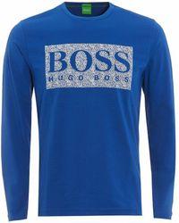17e22495b BOSS - Green Togn 1 Long Sleeve T-shirt Blue - Lyst
