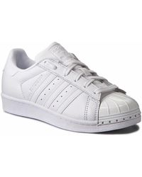 competitive price 04329 11e0d adidas - Originals Superstar Metal Toe W B Ladies Trainers White - Lyst