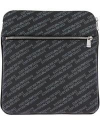 Emporio Armani - Crossbody Pvc Logo Messenger Bag Black - Lyst