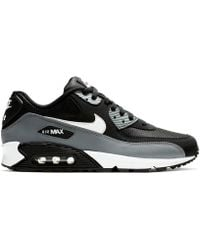 premium selection 35fda 66e4b Nike - Air Max 90 Essential Trainers Black Grey - Lyst