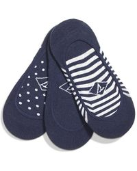 Sperry Top-Sider - Women's Micro Invisible Sock Liner Padded 3-pack - Lyst
