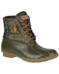 Sperry Top-Sider | Women's Saltwater Shiny Quilted Duck Boot | Lyst