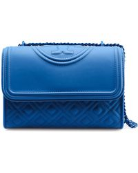 ba211b3f468f Lyst - Tory Burch Fleming Medium Quilted Smooth Leather Bag W Chain ...