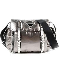 b8fcbd9a874e Prada - Shoulder Bag Tessuto Metal - Lyst