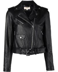Michael Kors - Classic Leather Moto Jacket - Lyst