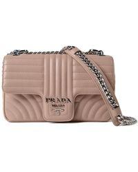 Prada - All Designer Products - Soft Calf Impunture Shoulder Bag - Lyst
