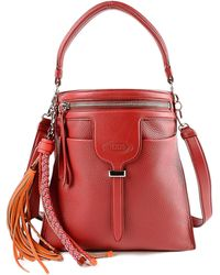 Tod's - Ans Sacca Tracolla Zip Piccola - Lyst
