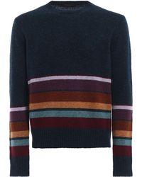 Prada - Intarsia-stripe Wool Sweater - Lyst