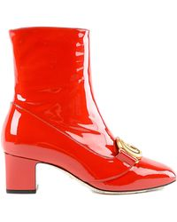 Gucci - Patent Bootie - Lyst