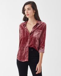 Splendid - Moonstone Velvet Shirt - Lyst