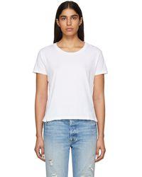 AMO - White Twist T-shirt - Lyst