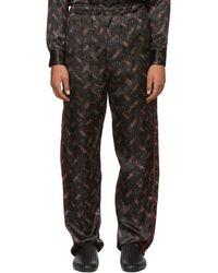 Bottega Veneta - Black Pixel Print Pyjama Trousers - Lyst