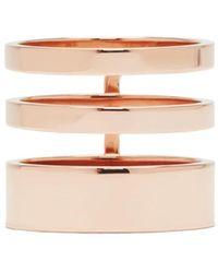 Repossi - Rose Gold Triple Band Berbere Ring - Lyst