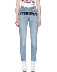 Vetements - Blue Levis Edition Logo Jeans - Lyst
