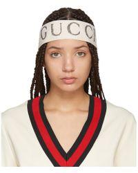Gucci - White Logo Headband - Lyst